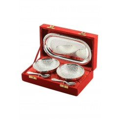 Tray set with round bowl