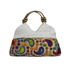 Designer White Hand Bag